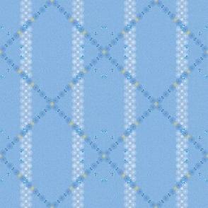 Lattice of Blue and Soft White