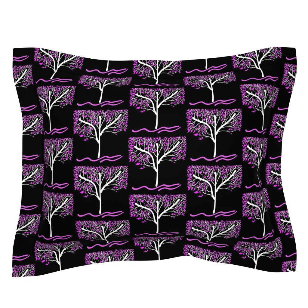 Sebright Pillow Sham featuring Trees Breathe Life (summer night) - closed leaves by bravenewart