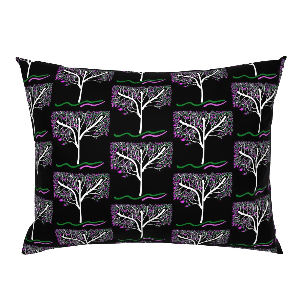 Campine Pillow Sham featuring Trees Breathe Life (spring night) - closed leaves by bravenewart