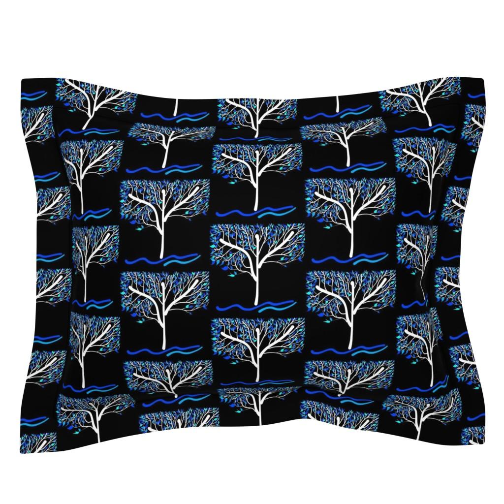 Sebright Pillow Sham featuring Trees Breathe Life (autumn night) by bravenewart