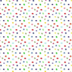 Lots of rainbow dots || watercolor polka dot