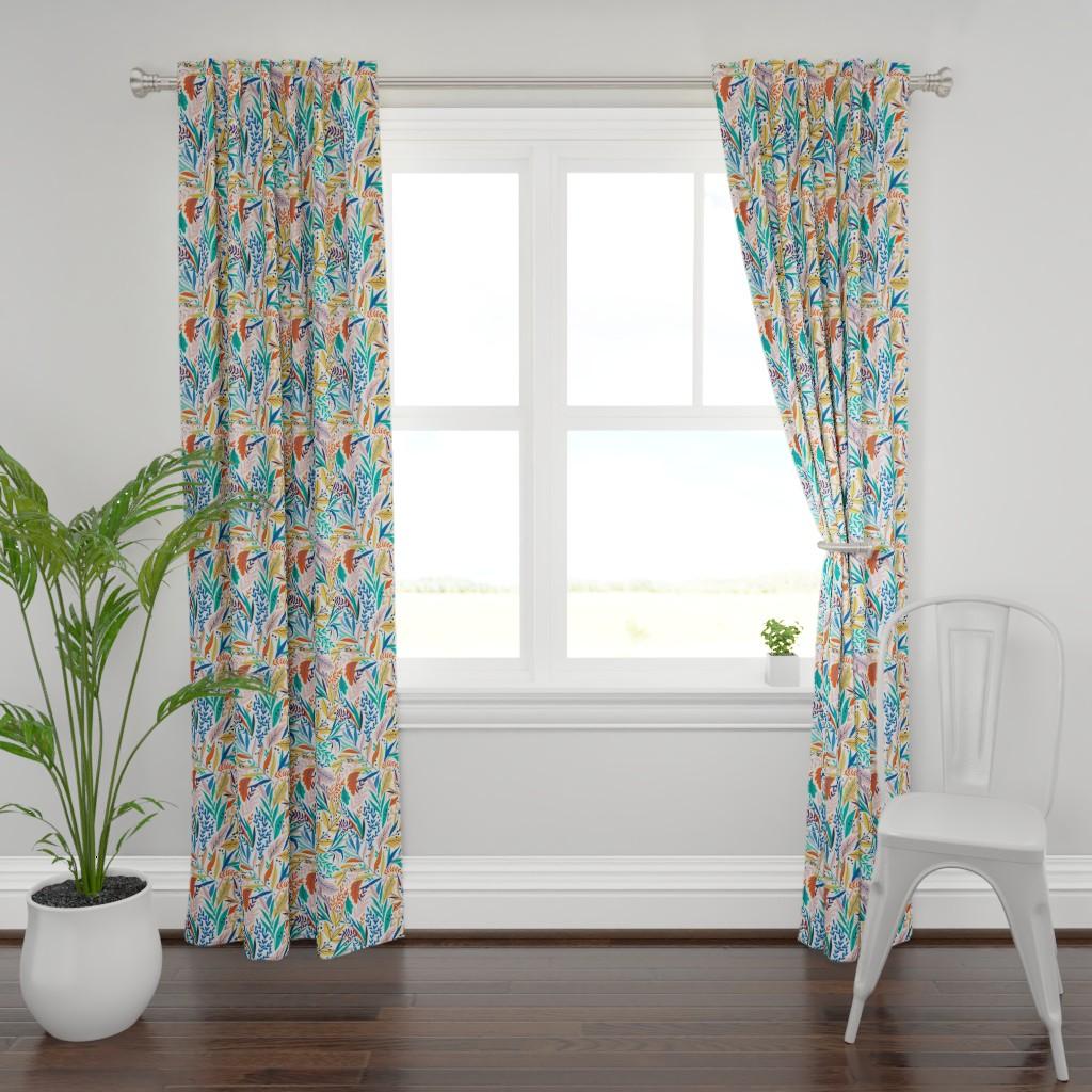 Plymouth Curtain Panel featuring Bohemian Paradise by maria_galybina