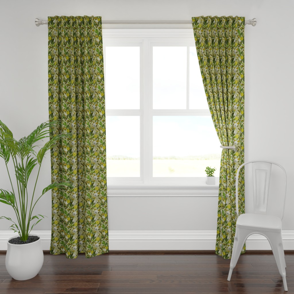 Plymouth Curtain Panel featuring Choose To See Flowers, Not Weeds! by irishvikingdesigns