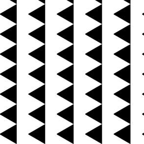 Triangles in a Column - Monochrome