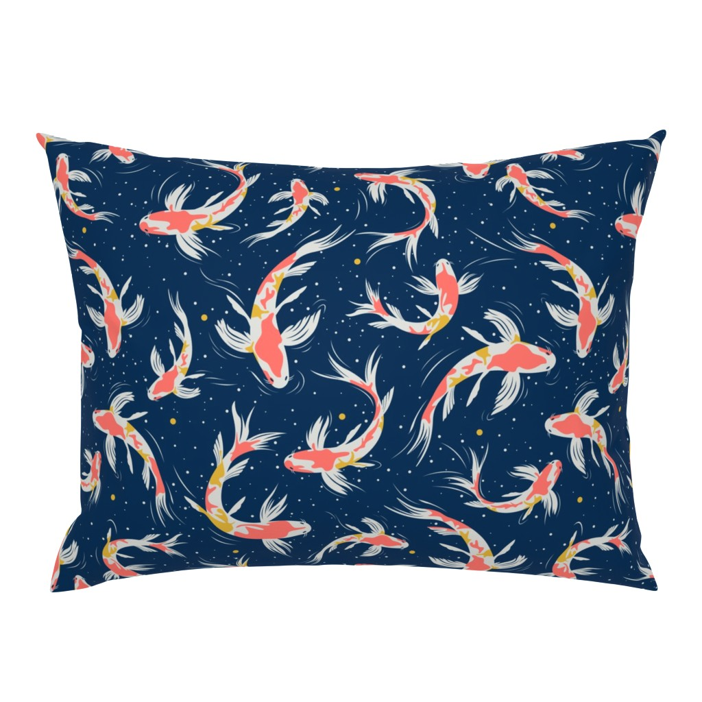 Campine Pillow Sham featuring Koi Fishes in the Water by evamatise