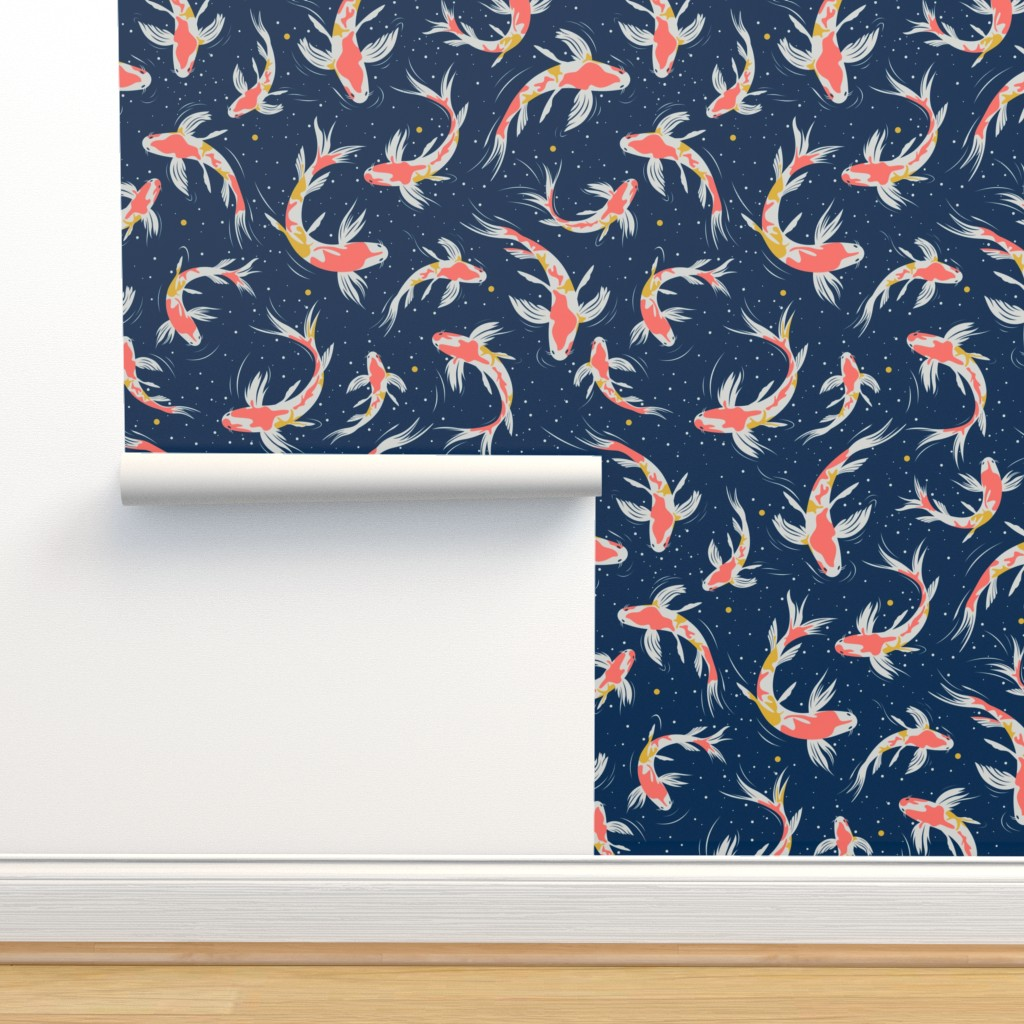 Isobar Durable Wallpaper featuring Koi Fishes in the Water by evamatise