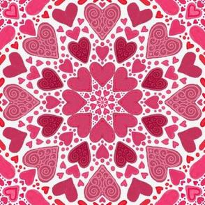 TARS Project 919   Valentine Hearts on White