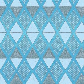 Diamond -blue gray large