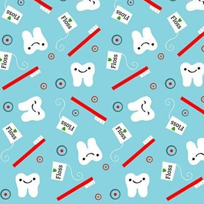 Floss & Brush / teeth / blue