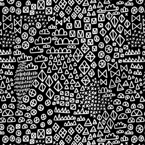 Geometric Hand Drawn Shapes in reverse