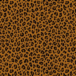 ★ LEOPARD PRINT in YELLOW OCHRE ★ Tiny Scale / Collection : Leopard spots – Punk Rock Animal Print