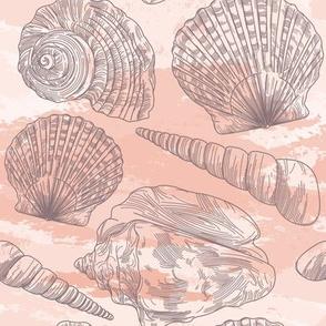 Beachy Peachy Seashell Pattern