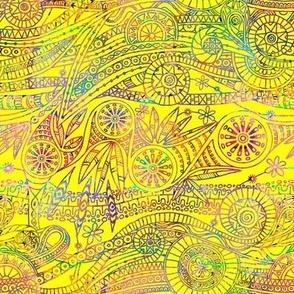 Doodle Yellow Rainbow