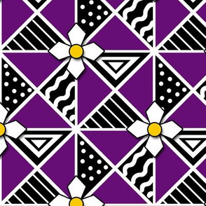 Purple and Black Pysanky Triangles
