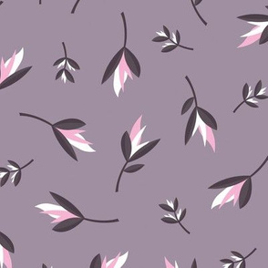 Birds of paradise flowers tropical bikini beach and summer design lilac purple