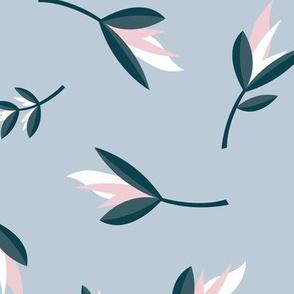 Birds of paradise flowers tropical bikini beach and summer design winter blue JUMBO