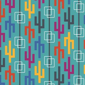 colorful geo cactus