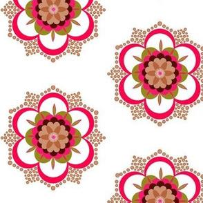 Bold floral mandala