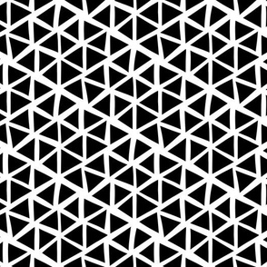Triangle mosaic - black and white