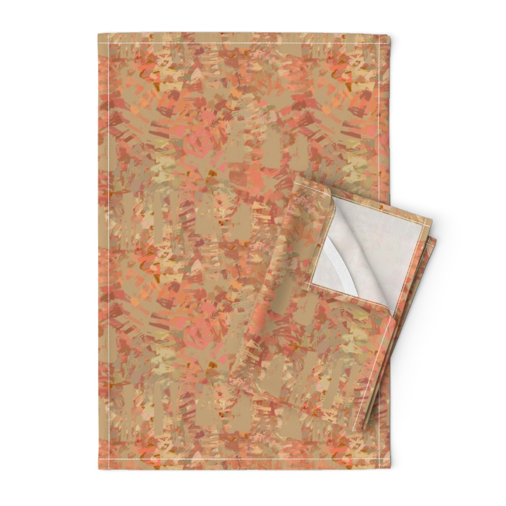 Orpington Tea Towels featuring coral_mars_red by wren_leyland