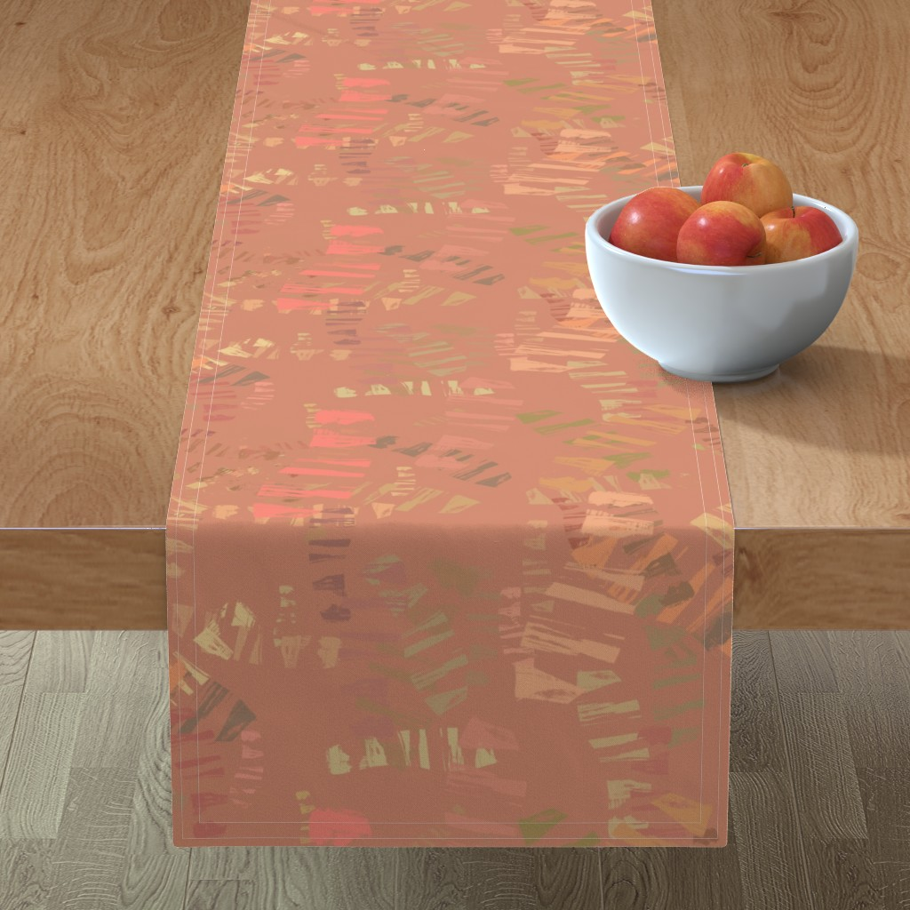 Minorca Table Runner featuring mars_red clay_coral by wren_leyland