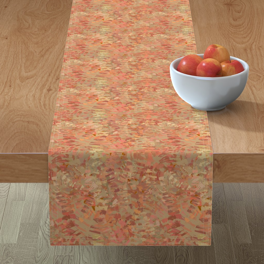 Minorca Table Runner featuring coral_mars_red by wren_leyland