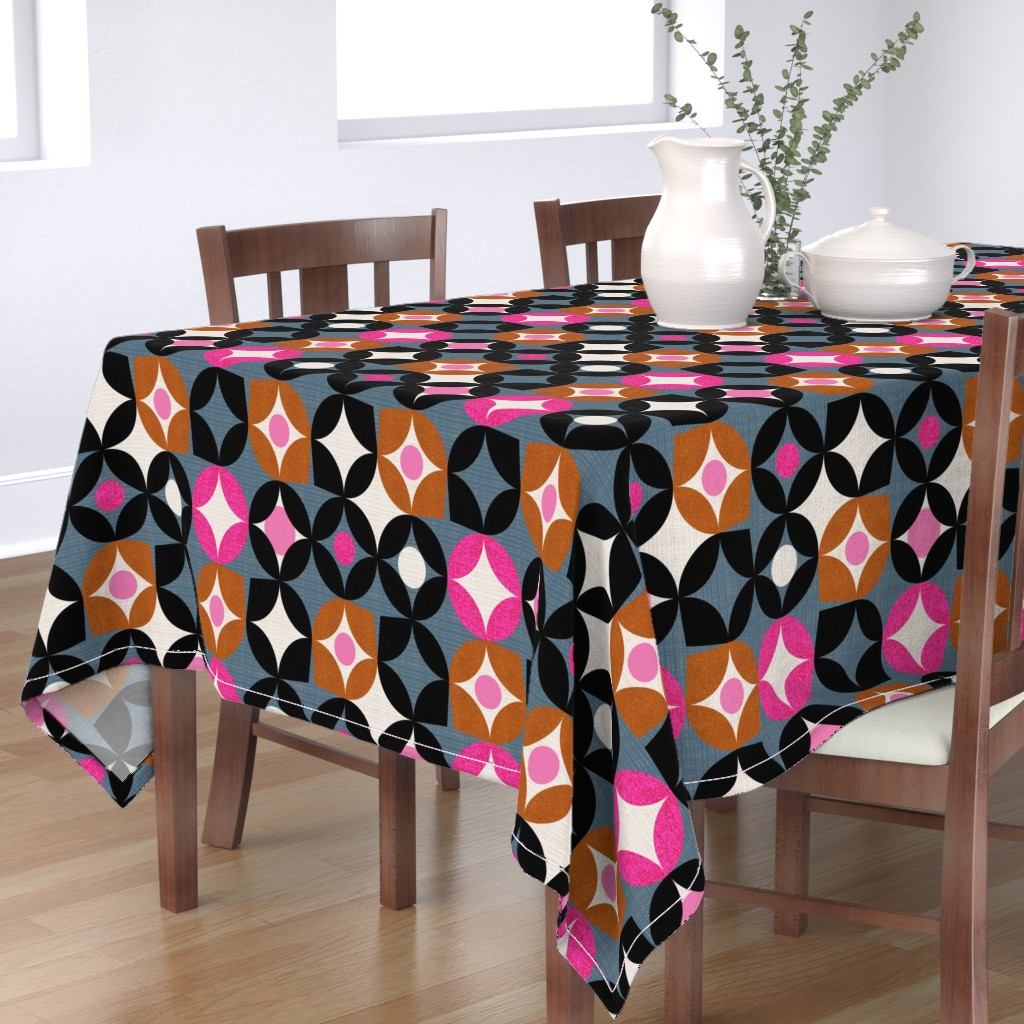 Bantam Rectangular Tablecloth featuring Mod desert -midcentury by ottomanbrim