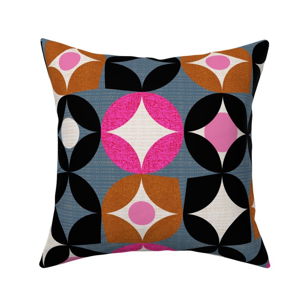 Catalan Throw Pillow featuring Mod desert -midcentury by ottomanbrim