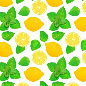 lemon and mint pattern