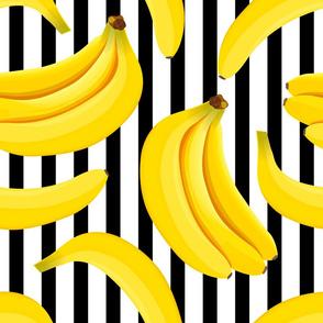 banana pattern black lines