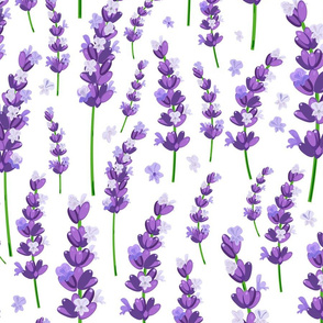 lavender pattern with petals