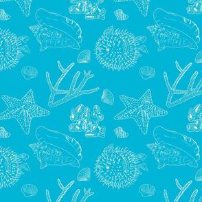 sea pattern blue