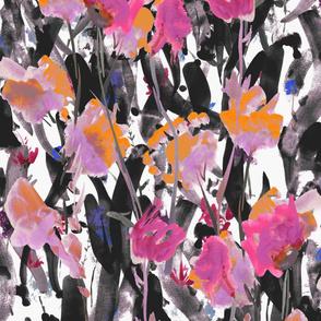 Watercolor deep leaves floral
