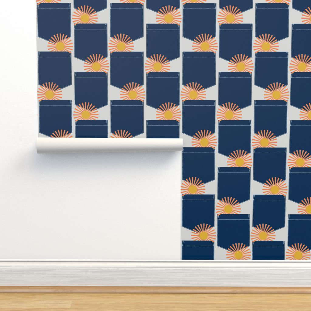 Isobar Durable Wallpaper featuring sunshine in my pocket by clothcrafty