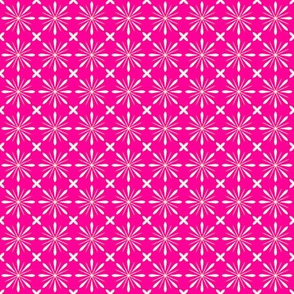 F-Peppermint Pink Flower Lattice