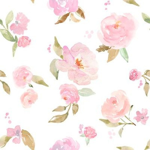 Cute Pastel Pinks Floral Wallpaper