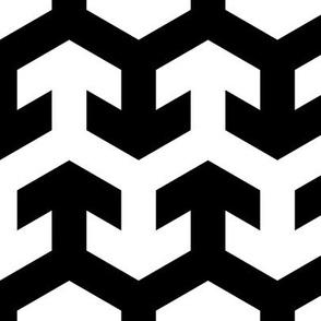 08441318 : arrow zigzag : black + white