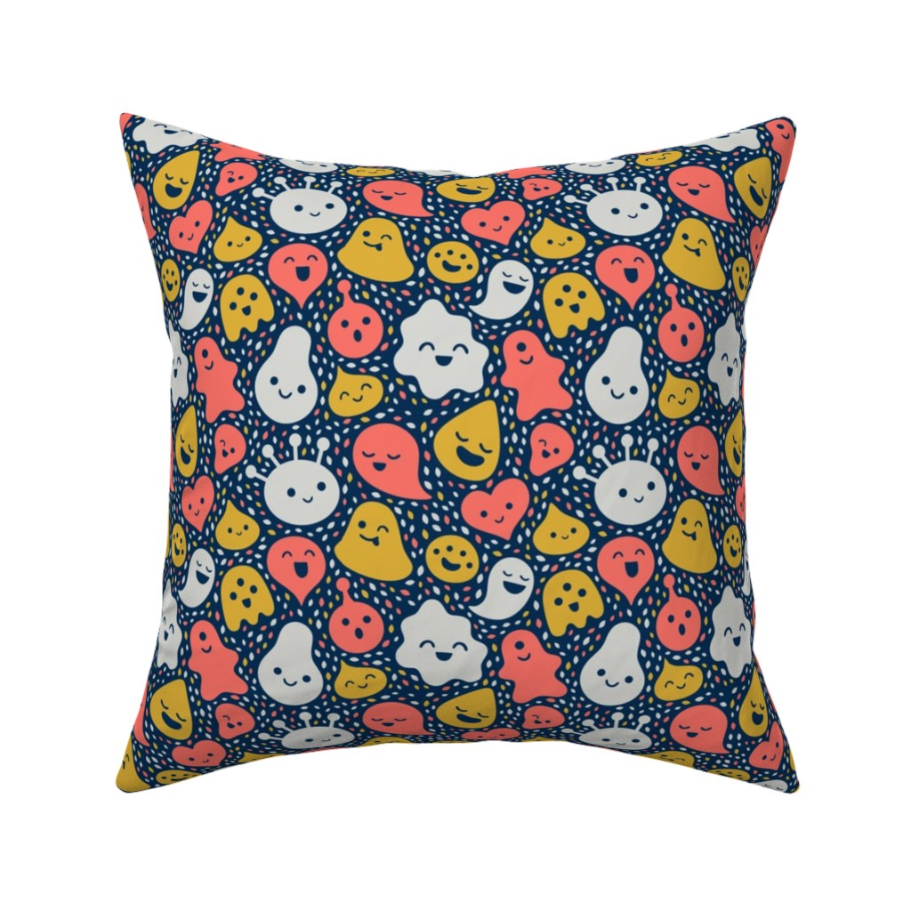 Catalan Throw Pillow featuring Floating Friends by sombrasblancas