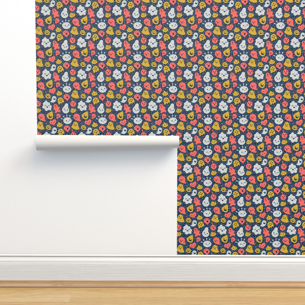 Isobar Durable Wallpaper featuring Floating Friends by sombrasblancas