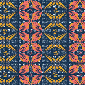 Geometric crystal flowers