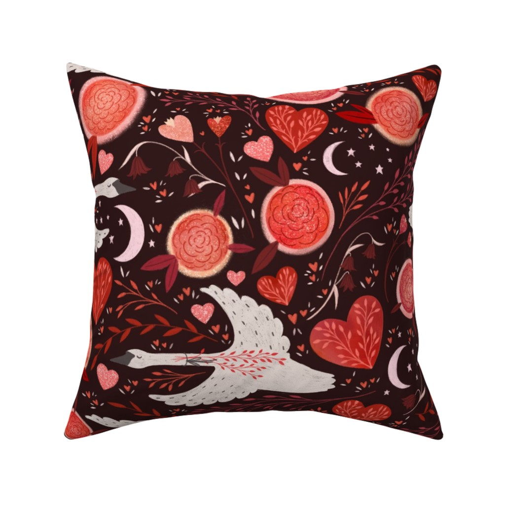 Catalan Throw Pillow featuring swans by mpatterson5