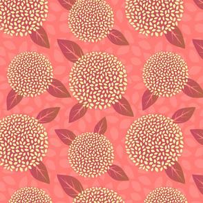 Hydrangea Meadow - coral