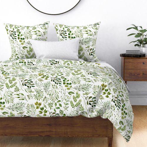 Home Decor Duvet Cover, Botanical Print Bedding