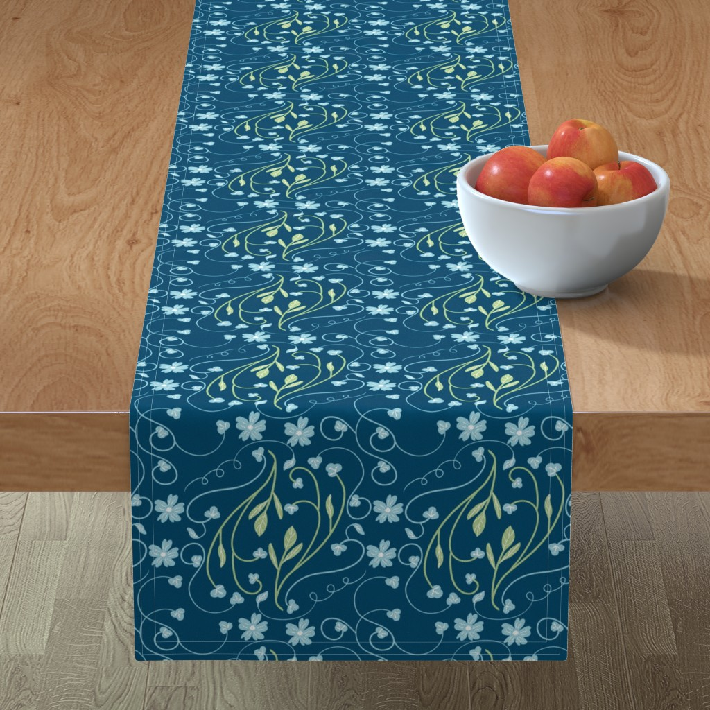 Minorca Table Runner featuring Pysanky Floral by artonfabric