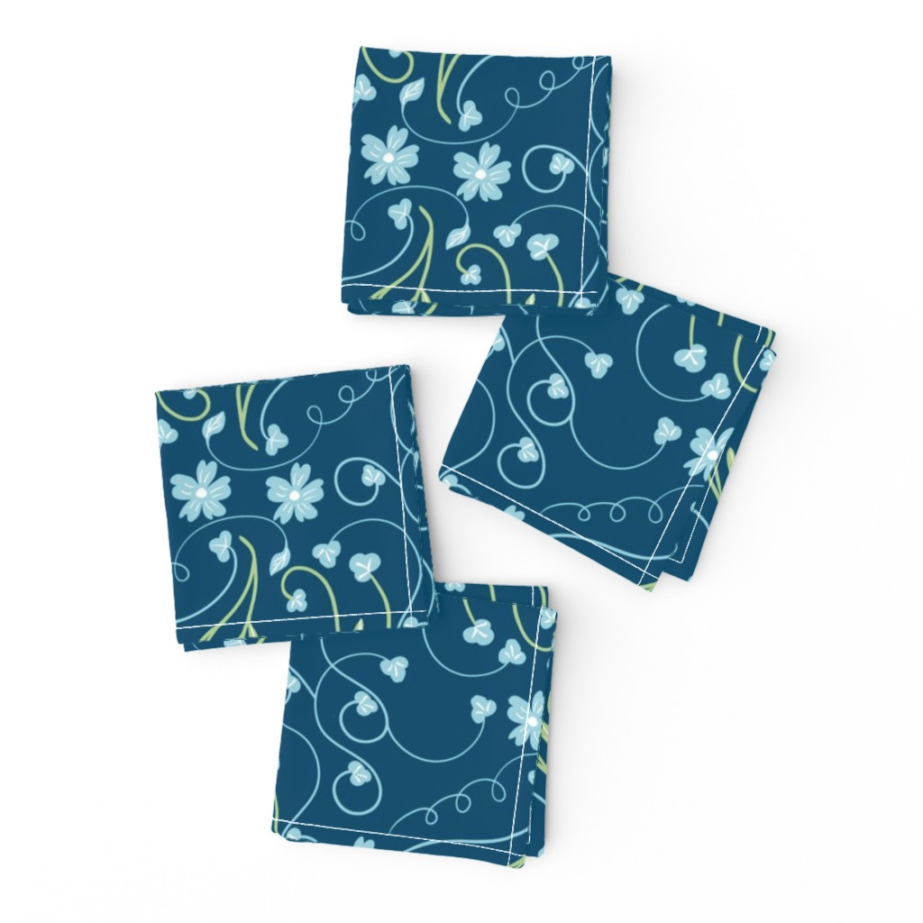 Frizzle Cocktail Napkins featuring Pysanky Floral by artonfabric