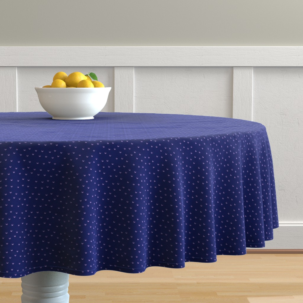 Malay Round Tablecloth featuring Tiny Moons by sarinilli
