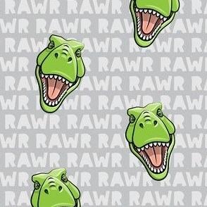 Tyrannosaurus rex  - RAWR grey on grey 2- dinosaur trex LAD19