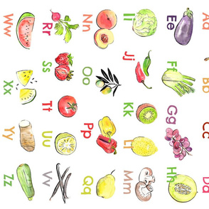 Fruit and veggies ABC - food alphabet