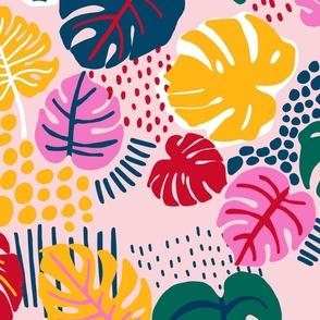 Bohemian Paradise Monstera - Pink