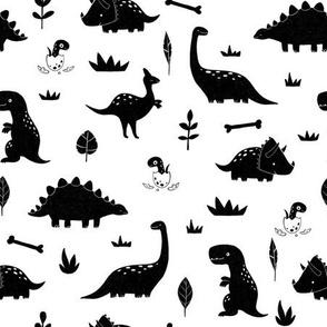 Dinosaurs in black